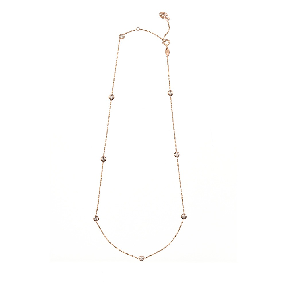 [diamante] Dia8_Yellow Pink_Necklace_42cm