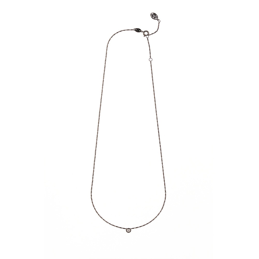 [diamante] Dia1_Black_Necklace_42cm
