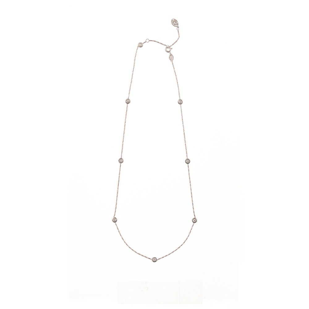 [diamante] Dia8_White_Necklace_42cm