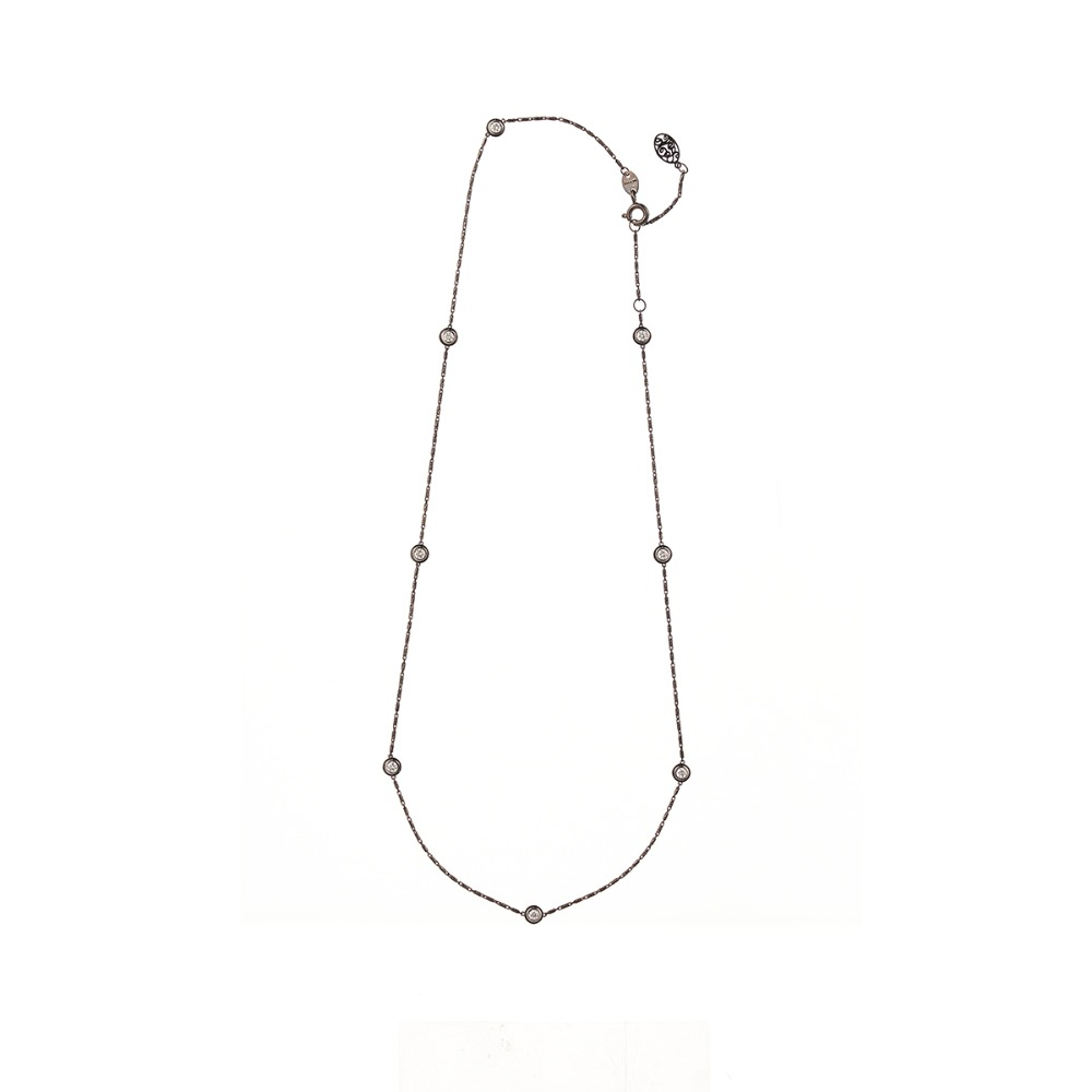 [diamante] Dia8_Black_Necklace_42cm