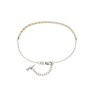 [Piatto] Yellow & White Anklet