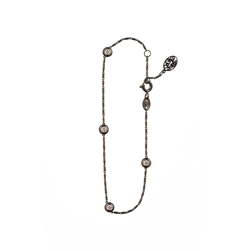 [diamante] Dia4_Black_Bracelet_17.5cm [이동욱 팔찌]