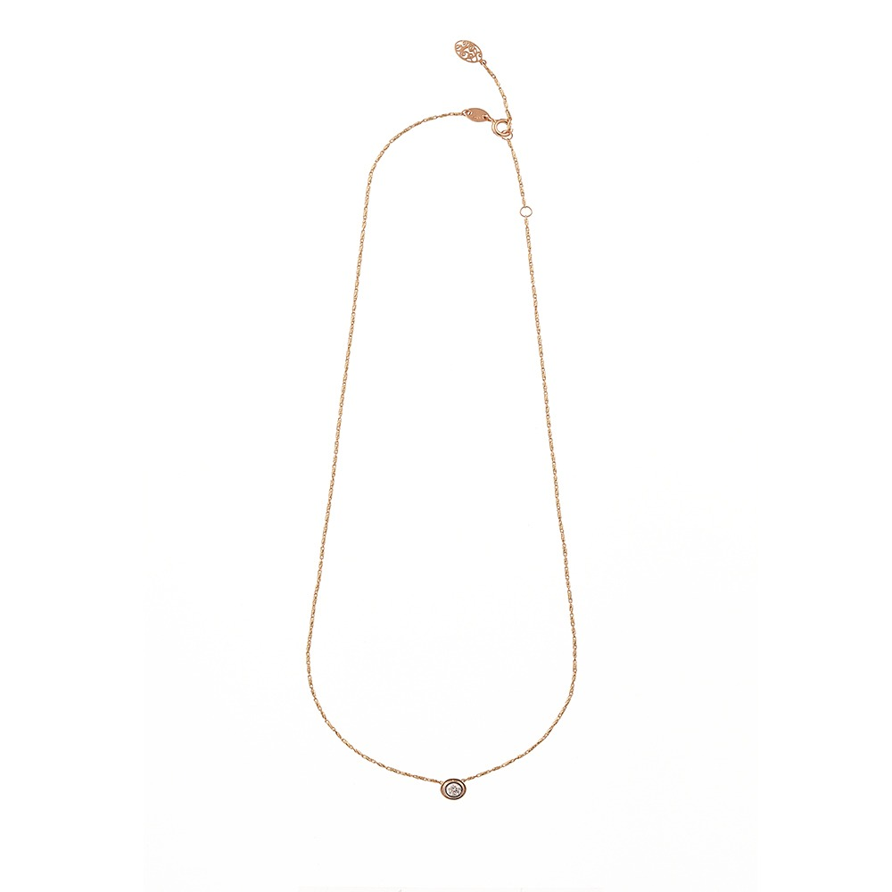 [diamante] Dia1_YellowPink_Necklace_42cm